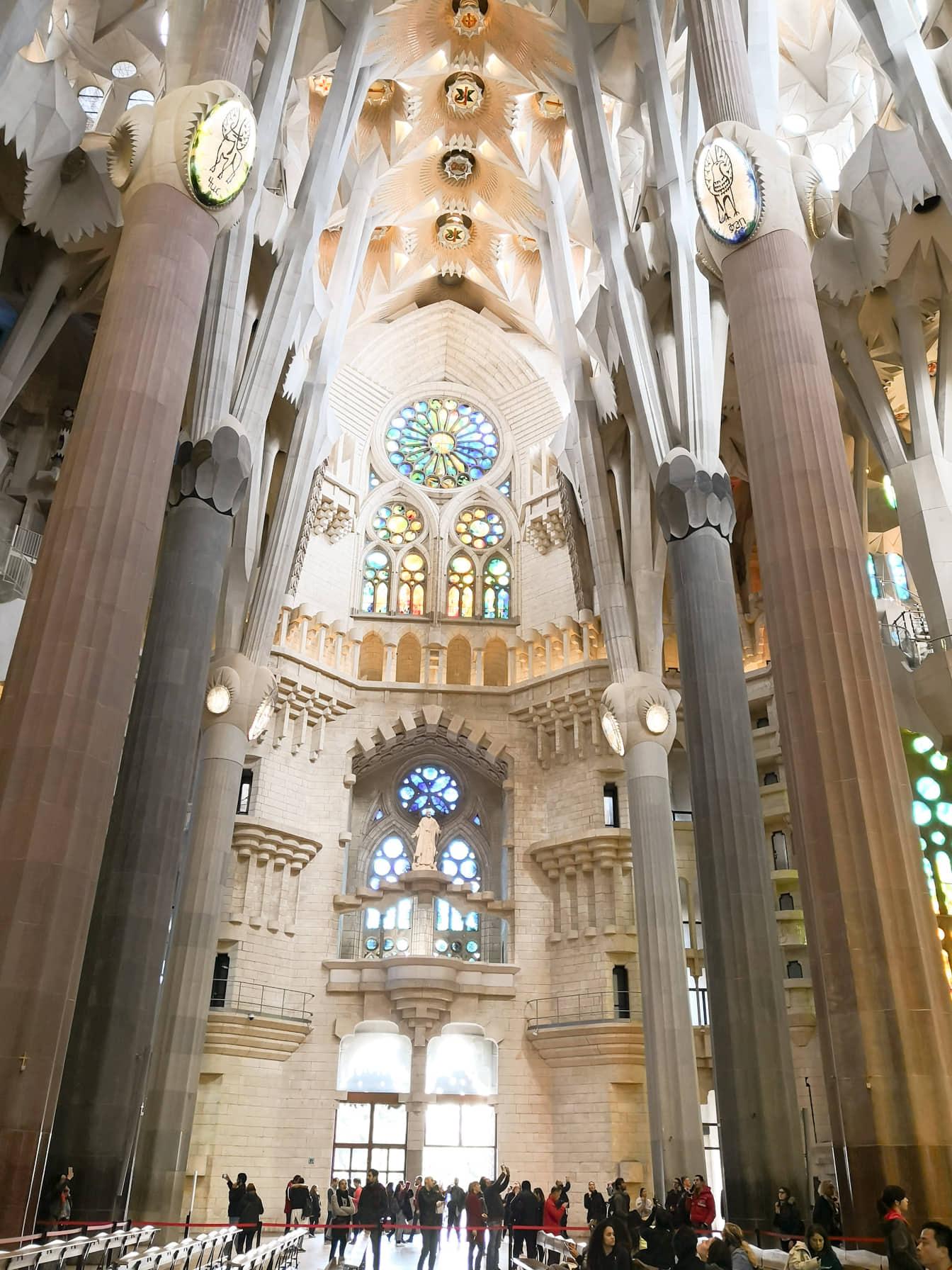 windows Sagrada Familia Barcelona Spain